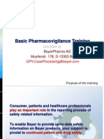 Basic Pharmacovigilance Training Slides