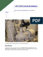 LT Medium HT VFD Used in the Industry