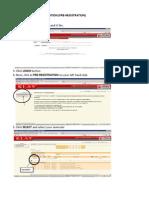 Steps for Online Pre Reg
