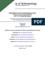 Desposecion y Antropologia Del Trabajo