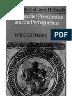 Guthrie - A History of Greek Philosophy Vol 1