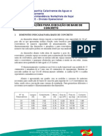 ESPECIFICAÇÃO BASE DE CONCRETO