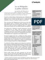 Executive Summary - Lundquist Wikipedia Research