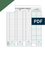 Tabela de Alinhamento Horizontal_modelo1