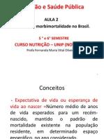 Aula  2 NSP- Padrões de morbimortalidade no Brasil - saúde e nutrição