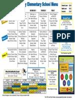 elementary fall menu