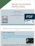 Como Crear Una Pagina Web en Linea