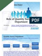 SAP Presenation_Role of Quantity Surveying Dept
