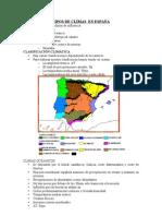 TIPOS DE CLIMAS EN ESPAÑA ALUMNOS