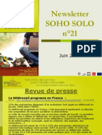 Newsletter Soho Solo n20 Juin09