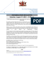 Information Bulletin August 18 2013