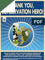 WWF Pledge E - Certificate