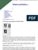 As diversas reencarnações de Chico Xavier « Chico Xavier, diálogos e recordações ….pdf