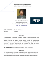 Estructura Organica y El Organo Administrativo