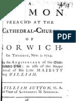 William Sutton - Anniversary Sermon 1724
