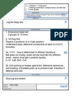 Training Sheet 1 - Defense 1 Endurance Diagrams