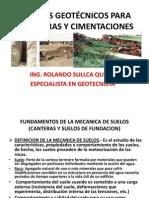 ESTUDIOS GEOTÉCNICOS PARA CARRETERAS
