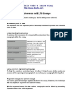 IELTS Essay Coherence