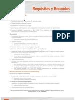 Requisitos y Recaudos Credito Efectivo Jul 2013