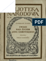 Uwagi nad życiem Jana Zamojskiego - Stanisław Staszic