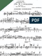Sonata No 4, Italiana (1977), Ed Gilardino