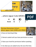 Fairview Rules and Procedures for Common Areas for Teachers