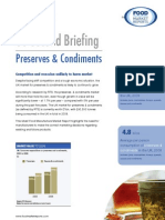 Preserves & Condiments - 60 Second Briefing