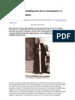 René Guénon, métaphysicien de la connaissance et témoin de la Tradition