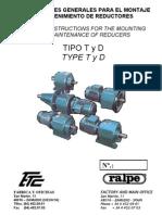RALPE_Instrucciones Montaje y Mantenimiento Reductores_Tipo T y D