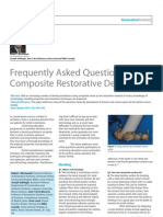 Frequently Asked Questions in Composite Restorative Dentistry and restorations