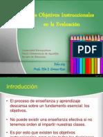 3. Los objetivos instruccionales en la Evaluación