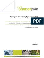 CarbonPlan Topical Survey 2012 Planning Positively for Sustainable Development