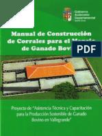manual de construcción de corrales para el manejo de ganado bovino
