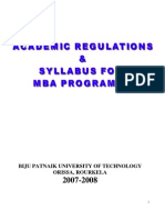 Bput Mba 07 08 Regular
