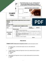 EXAMEN FINAL INVESTIGACI‡N DE OPERACIONES I 2013-2 TIPO D