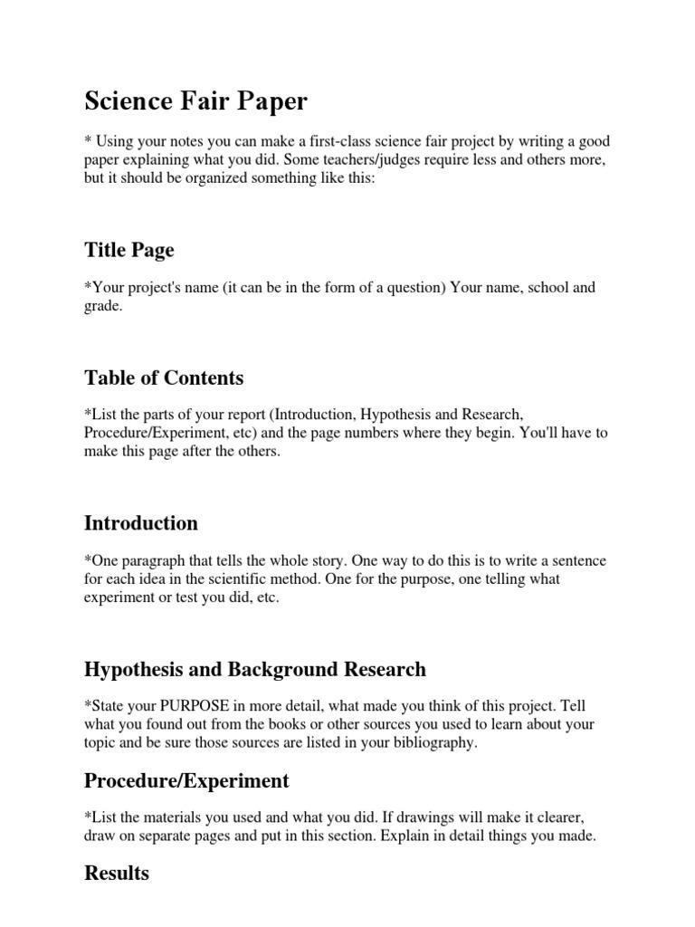 Science Fair Paper  PDF  Hypothesis  Dogs