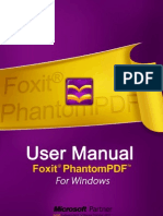 FoxitPhantomPDF52 Manual