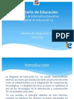 Informe TIC Regional 05 2012