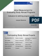 Program Metric Profile presentation