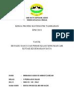 Kerja Projek Matematik Tambahan 2013