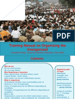 Ppt Training Manual on Organizing the Unorganised