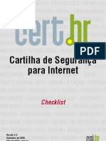 Cartilha Internet - Checklist