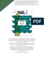 Mangrove Socioeconomics Aquatic Botany