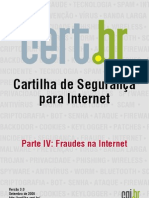 Cartilha Internet - Fraudes Na Internet