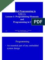 Chap 5Lesson01EmsysNewCProgrElements