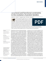 Worth C.L. 2009. Structural and Functional Constraints in the Evolution of Protein Families
