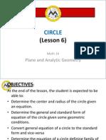 Math14 Lesson 6 CIRCLE