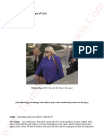 Katherine Jackson V AEG Live Transcripts of Debbie Rowe (MJ's Ex wife-Dr Klein's Ex nurse) August 14th 2013