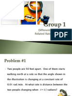 Group 1 - Differential Calculus (Related Rates)