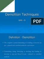 Unit 5 Demolition